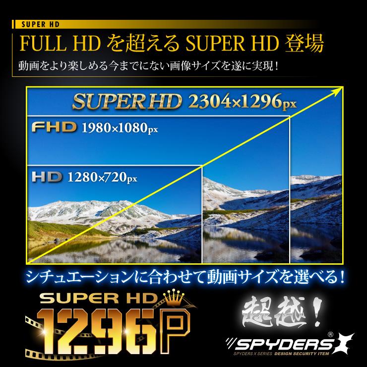 FULL HDを超える高画質スパイカメラが登場。シチュエーションに合わせて動画サイズを選べる。