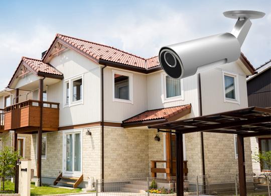防水機能搭載で屋外に設置できます。
